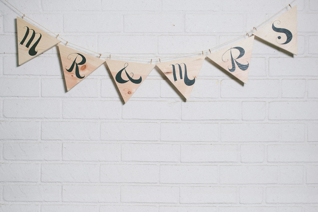 Wood Painted Wedding Finds Mr Mrs Banner
