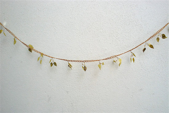 Elegant Wedding Decor Gold Leaf Garland
