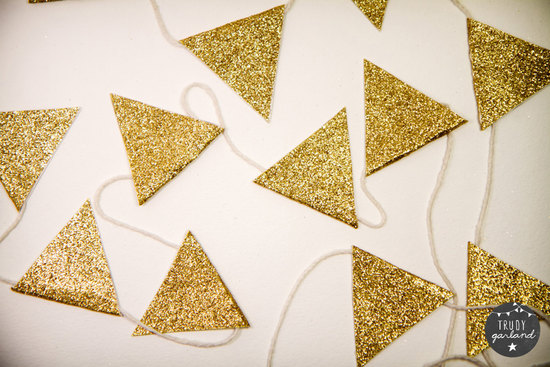 Glittery Gold Wedding Reception Garland
