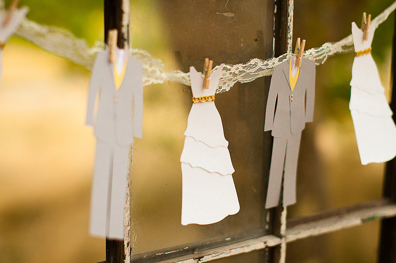 Whimsical Wedding Decor Paper Doll Garland