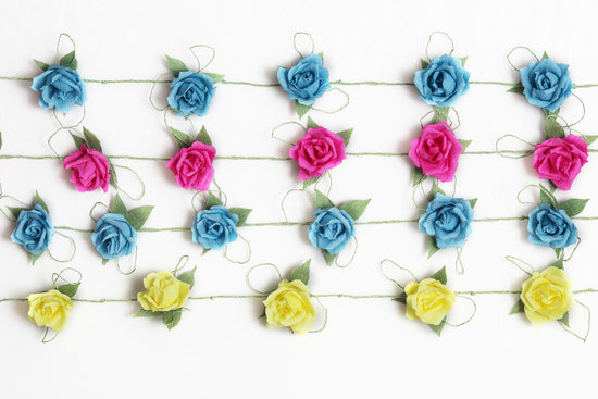 Colorful Floral Garland for Romantic Weddings