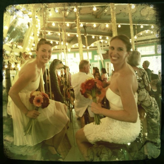 photo of Two Brides in LWDs Tie the Knot in DC