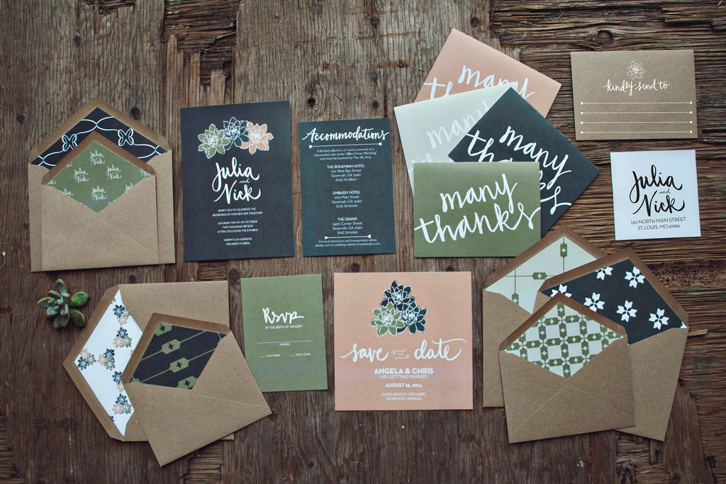 Gorgeous Wedding Invitation Suite Succulent Love
