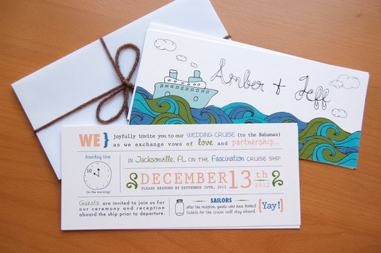 Nautical Wedding Invitations Illustrated