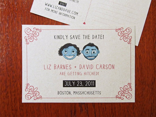 Funky Wedding Invitation Offbeat