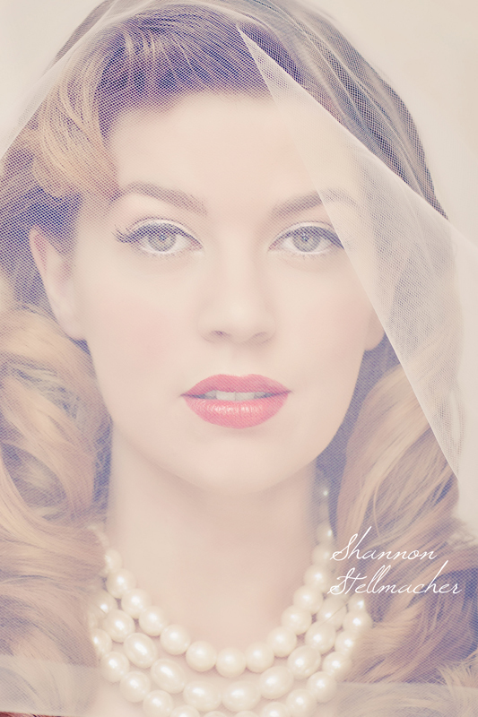 photo of Vintage Bridal Makeup with Classic Wedding Veil