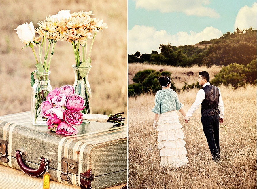 Outdoor Engagement Session Rustic Vintage