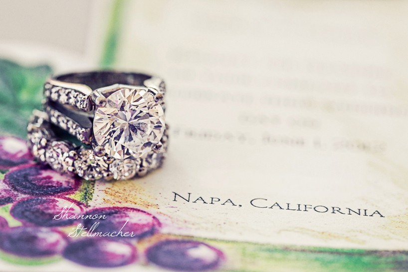 Dazzling Engagement Ring Wedding Photo Napa CA
