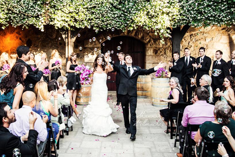 Romantic Outdoor Wedding Ceremony Bride Groom Exit  OneWed.com