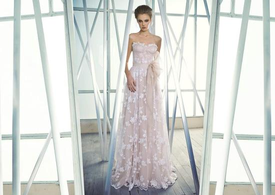 photo of Romantic Wedding Dress Sheer Lace over Nude