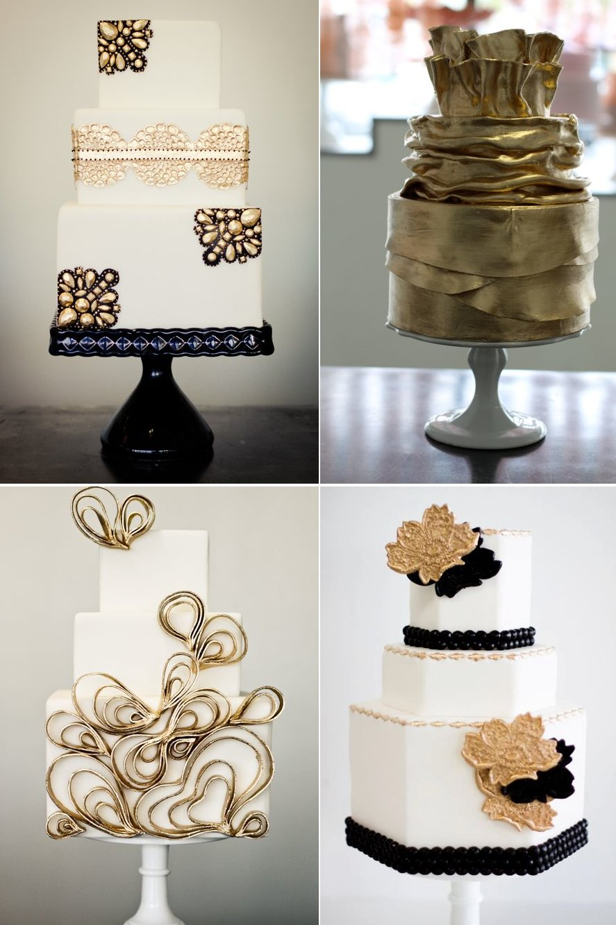 black and gold wedding cake toppers black and gold wedding cakes 11816