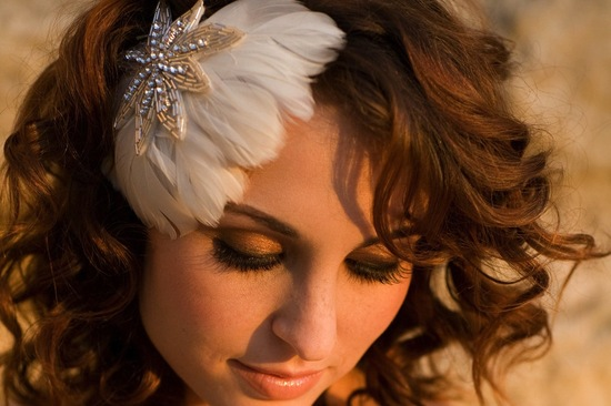 Feather Fascinator for Vintage Brides