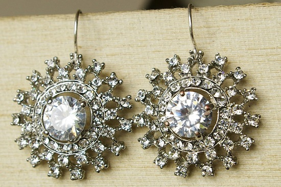 Vintage Wedding Accessories Art Deco Earrings