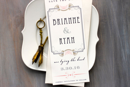 Art Deco Wedding Save the Date