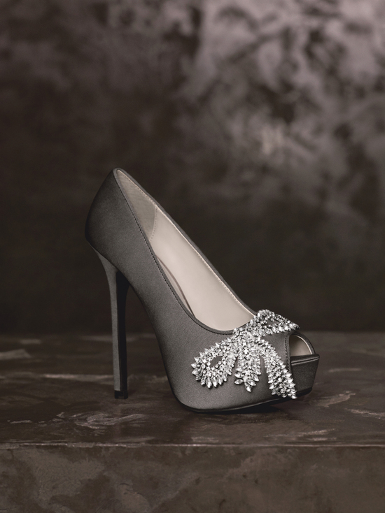 Spring 2013 White by Vera Wang Wedding Shoes VW370143 pewter