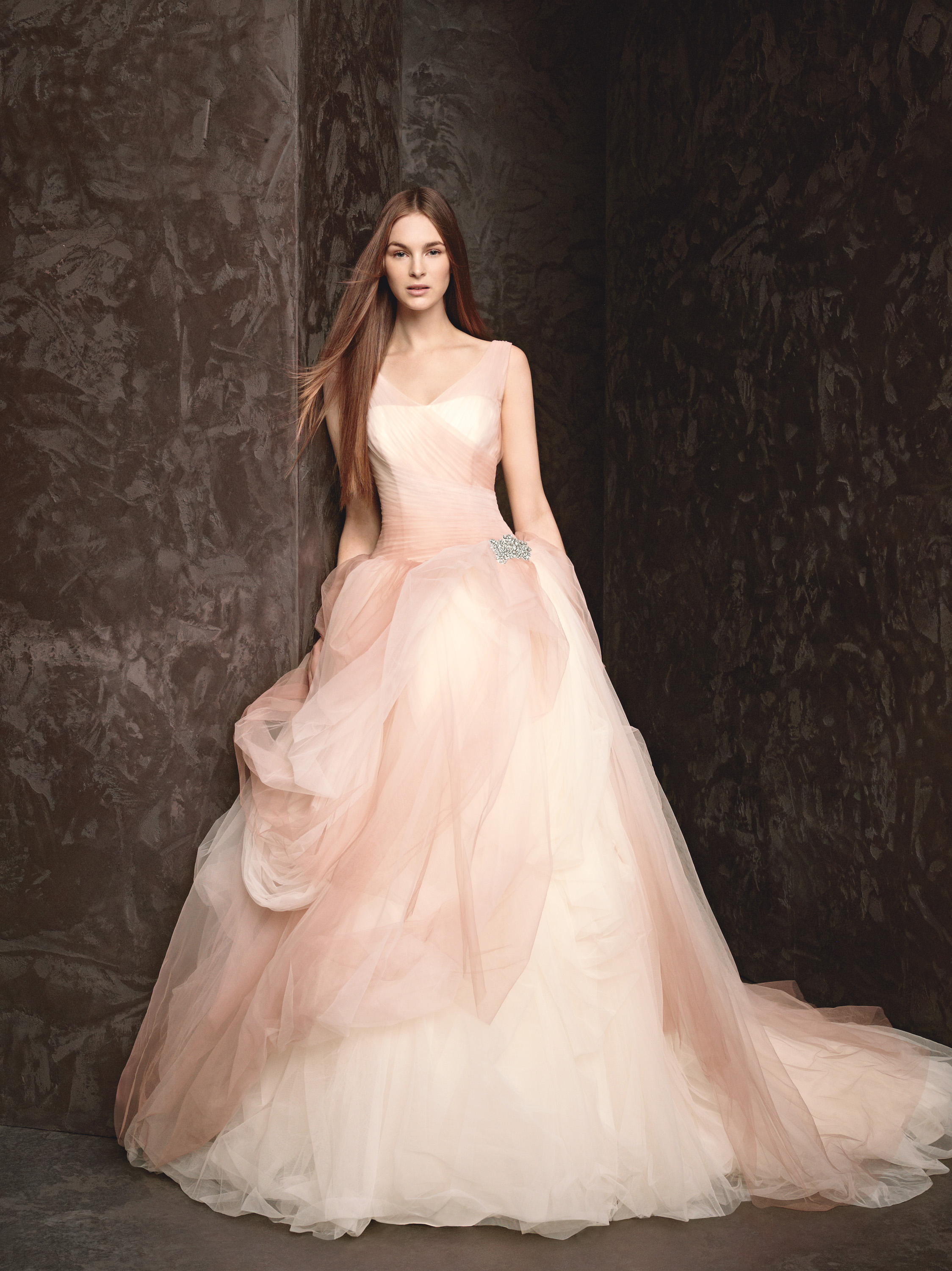Spring 2013 wedding dress white by vera wang bridal gowns for Wedding dresses in color