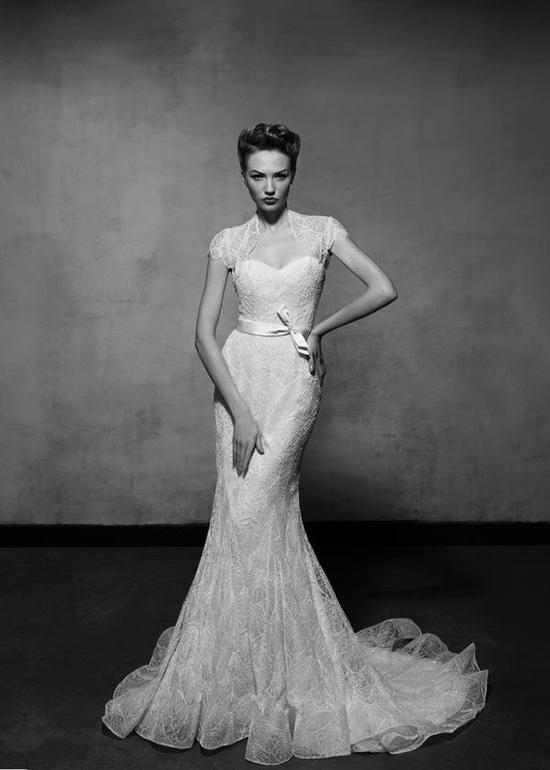 photo of Vintage Glam Mermaid Wedding Dress by Lusan Mandongus 4