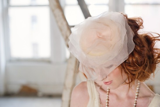 Pouf Bridal Hair Flower Wedding Accessories by Preston and Olivia