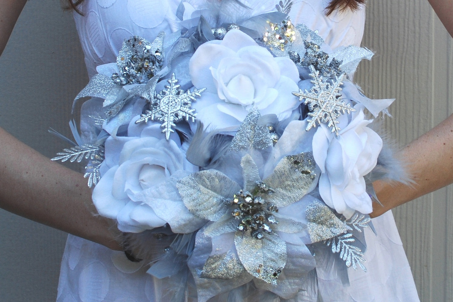 Alternative Bridal Bouquet Winter Wonderland Wedding