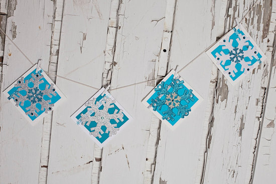 Whimsical Snowflake Wedding Garland