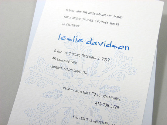 Modern Winter Wedding Invitations