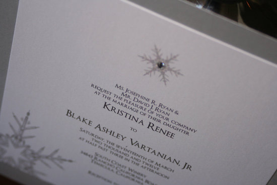 Winter Wonderland Wedding Invitations White Silver
