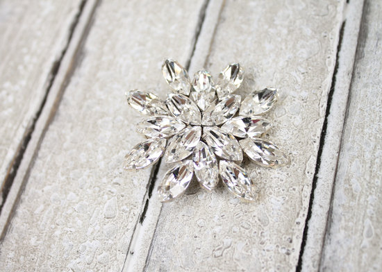 Wedding Bouquet Crystal Brooch