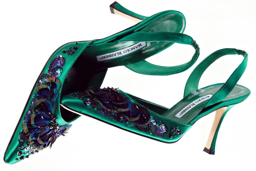 manolo blahnik green wedding shoes