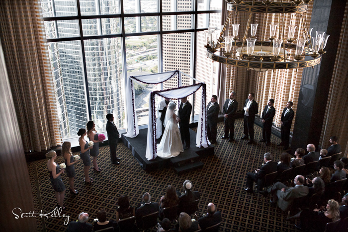 Liza And T S Wedding Ceremony At The Petroleum Club In Houston Texas Www Houstonweddingphotographers 1