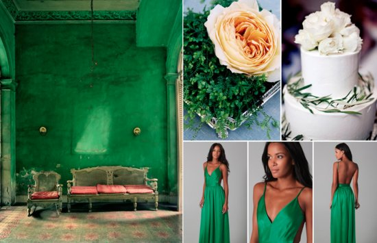 Emerald Green Wedding Color Inspiration