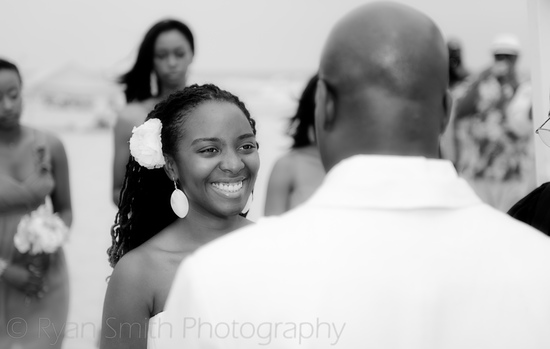 Bride smiling at groom during ceremony_5951209534_o
