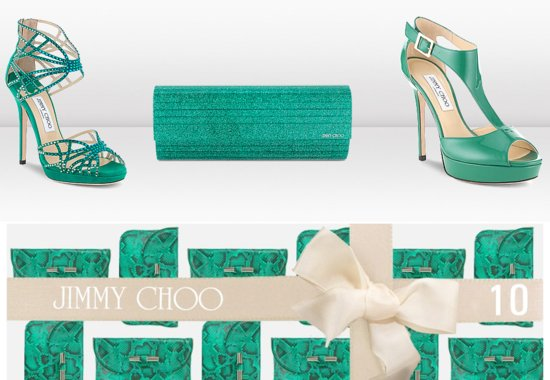 Emerald Green Jimmy Choo Wedding Shoes Bridal Clutch