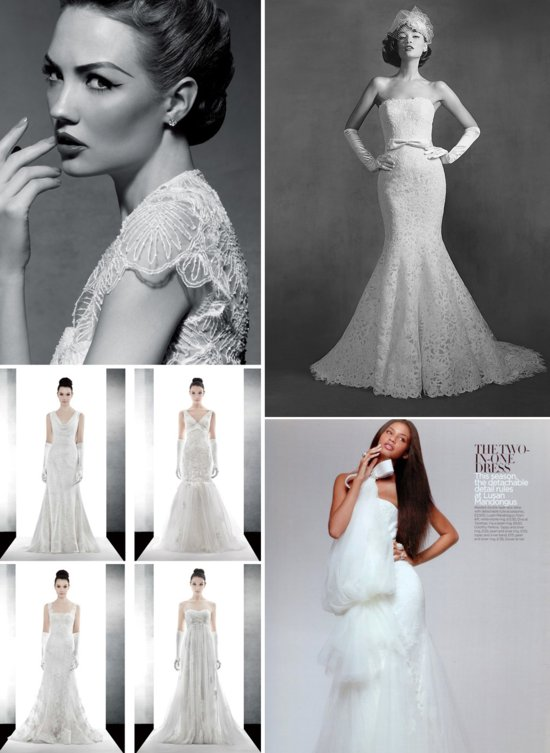 photo of Elegant Bridal Gowns Vintage Inspired Lace