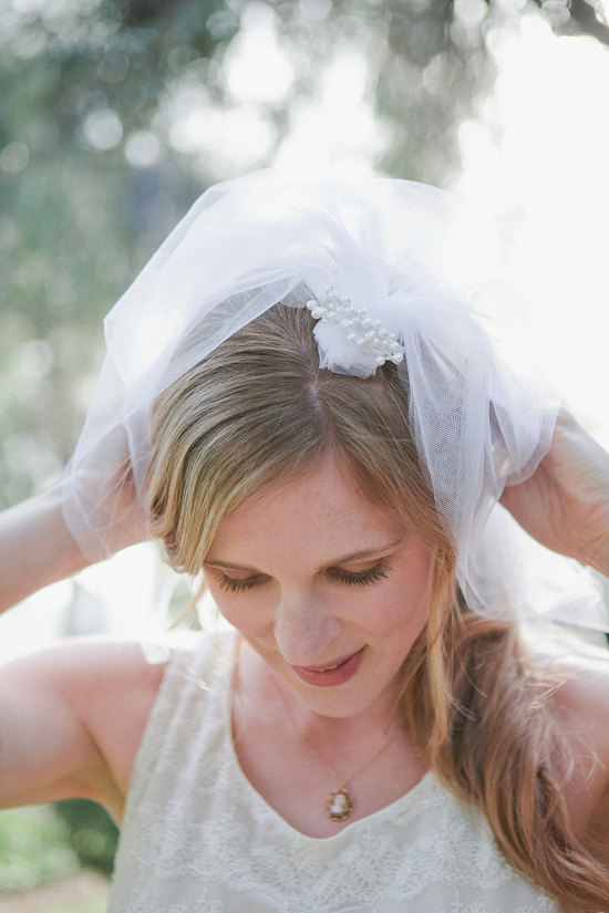 Bridal Blusher in White Net Four Layers