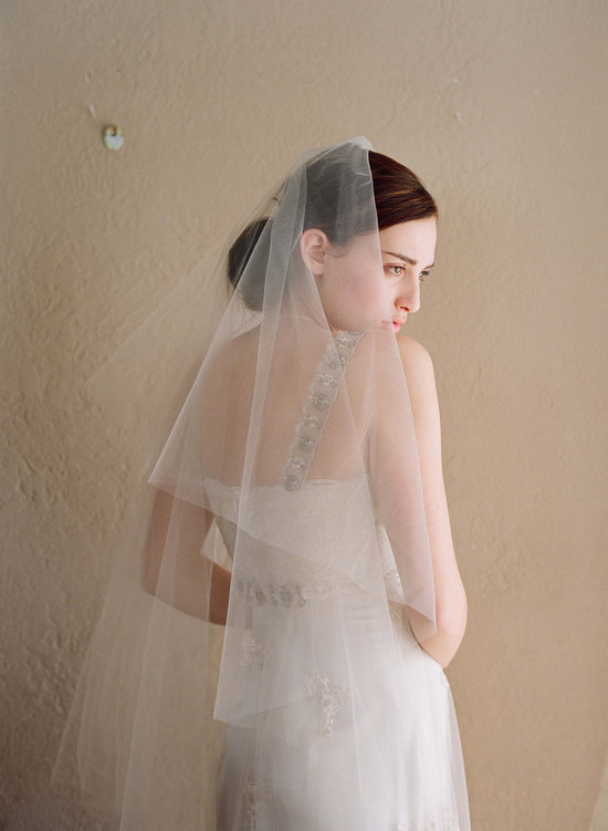Classic Sheer Bridal Veil Two Tier