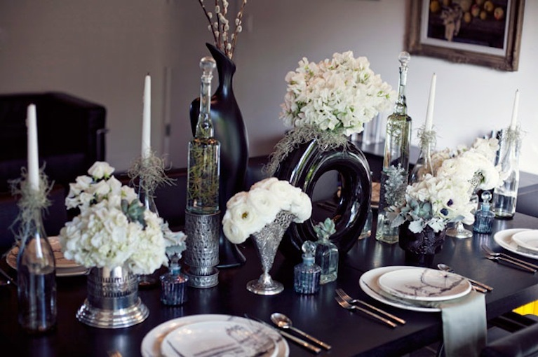 Modern Vintage Wedding Tablescape