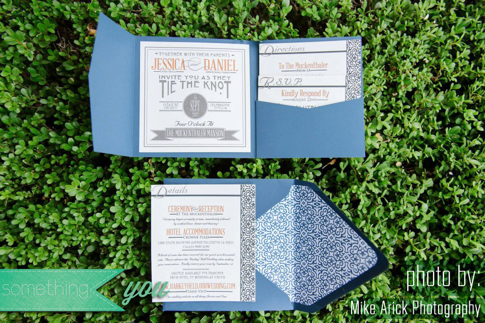 Modern Vintage Wedding Invitations