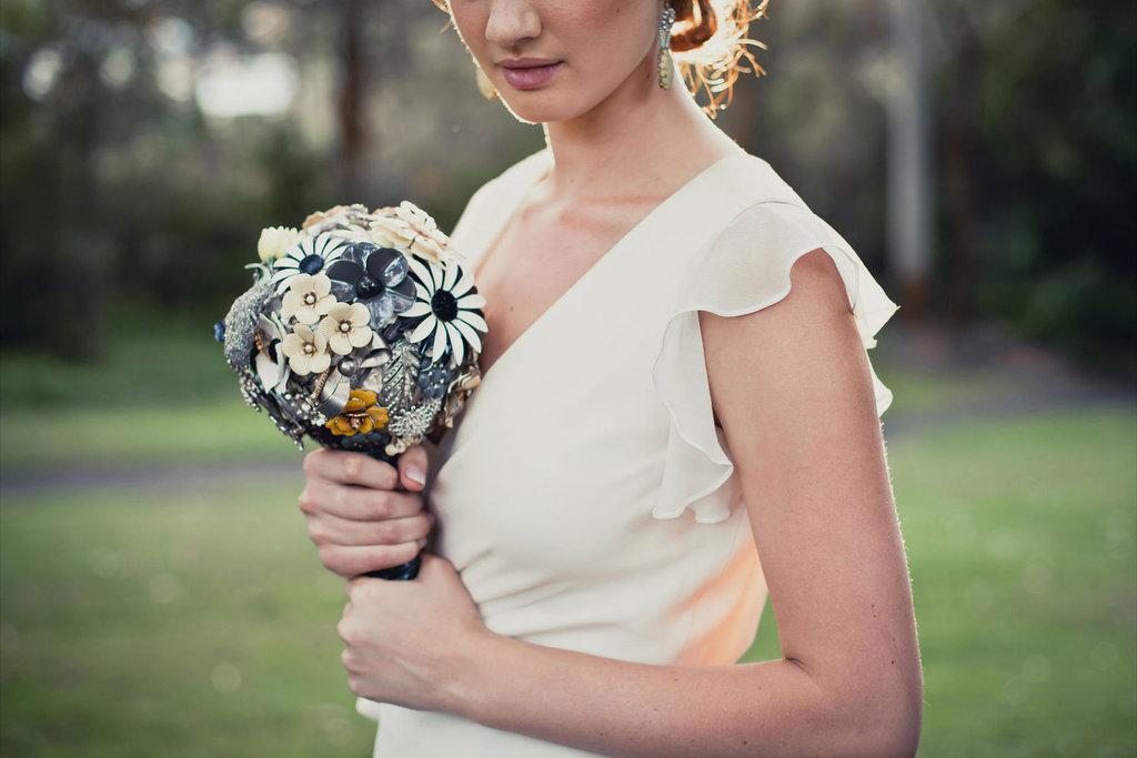 Brooch Bridal Bouquets Modern Vintage Theme