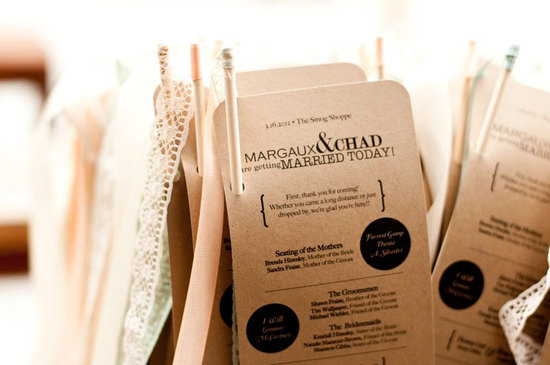 Modern Vintage Rustic Wedding Programs
