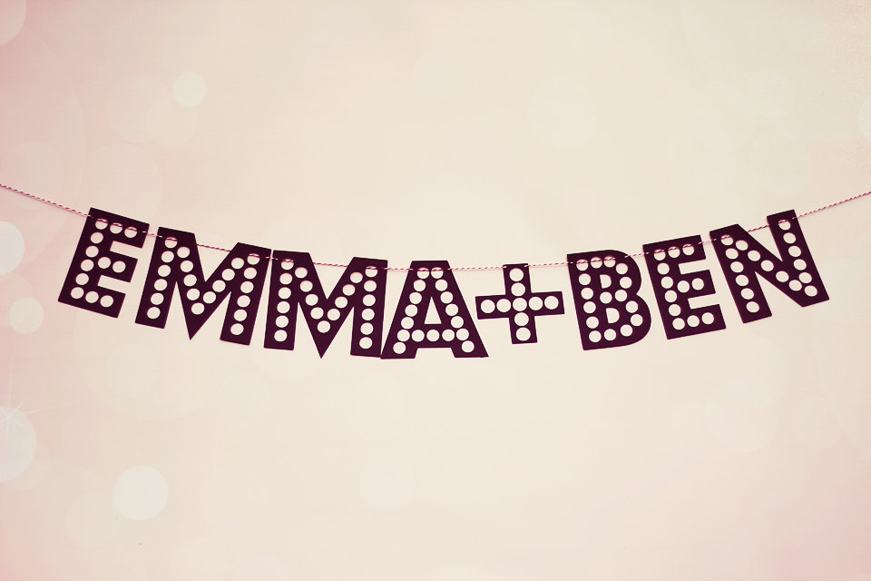 Modern Vintage Wedding Sign