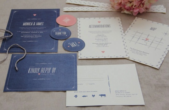 Modern Vintage Wedding Invites with a Rustic Twist