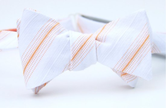 Embossed Bow Tie for Destination Wedding Groom