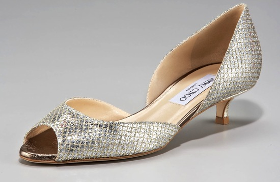 Nearly Flat Wedding Shoes Gold Jimmy Choos