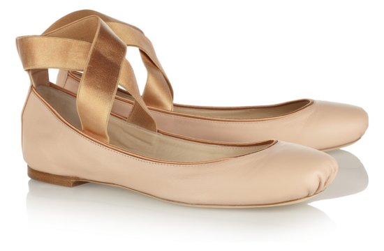 Ballet Pink Flat Bridal Shoes