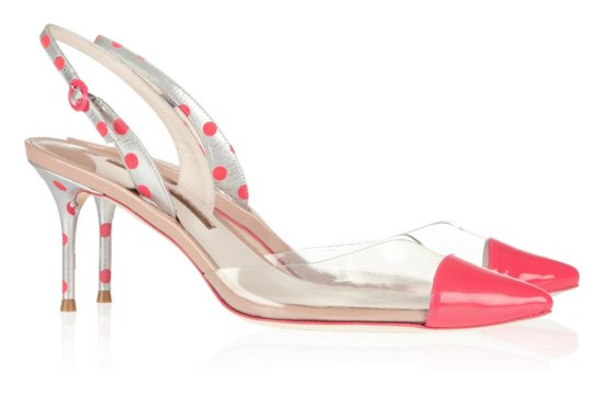 Pretty Pink Polka Dot Wedding Shoes