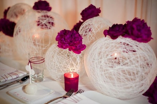 photo of Fuschia Pink Wedding Flowers and Reception Decor