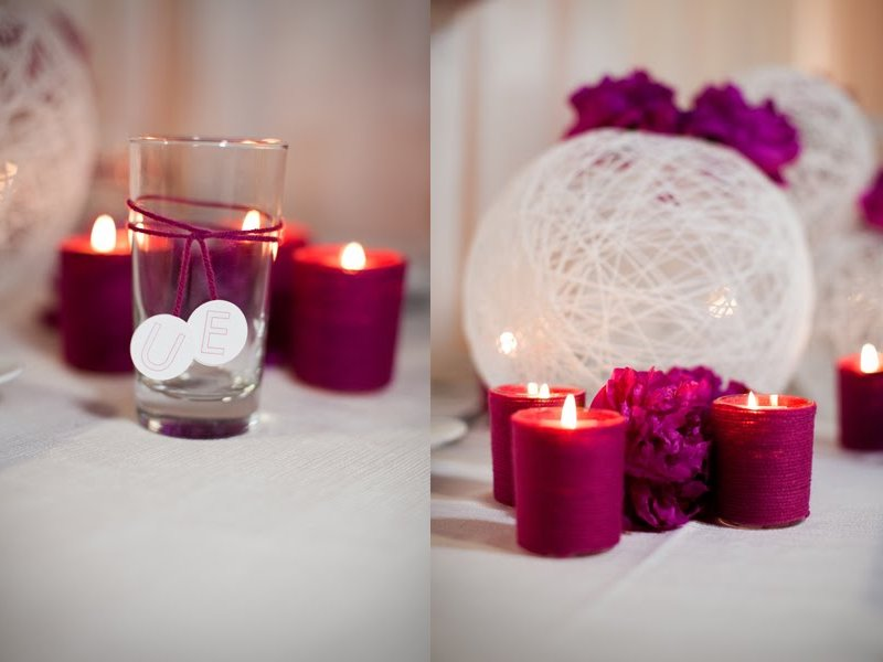 budget wedding ideas colored votives wedding reception decorations