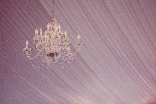Enchanted Wedding Reception Decor Floral Draped Chandelier