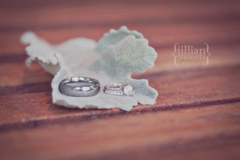 Artistic Engagement Ring Shot on Lambs Ear