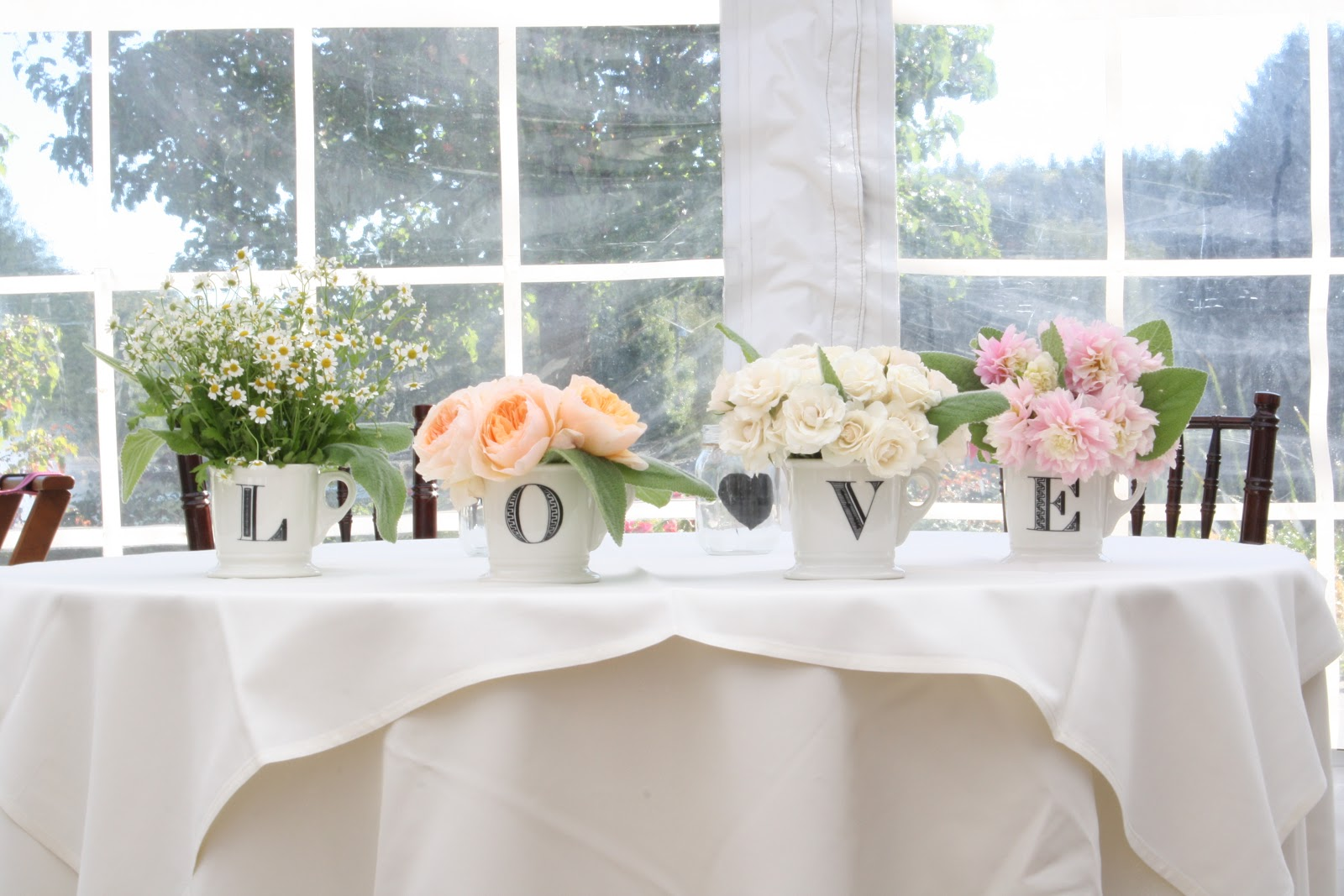 All photos tagged 'simple wedding centerpieces peach ivory pink ...